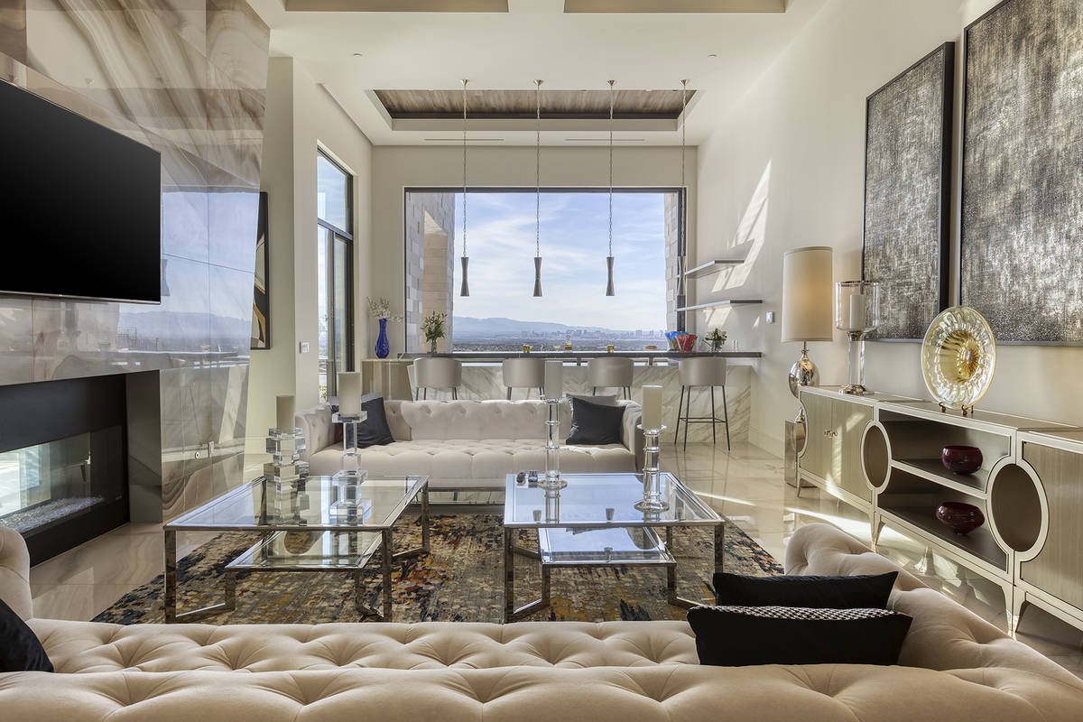 Nearly every room in the home has a view of the Las Vegas Strip. (Kristen Routh-Silberman)