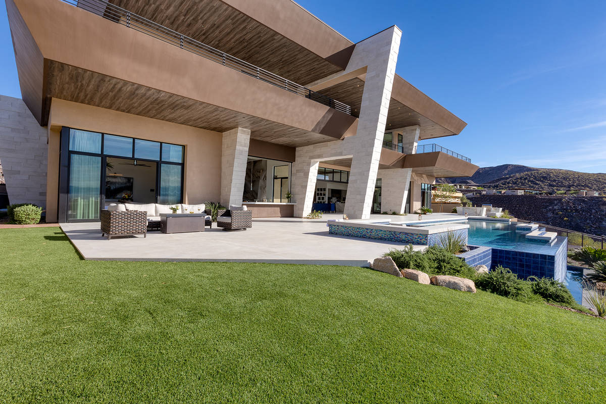 The home features modern architecture. (Kristen Routh-Silberman)