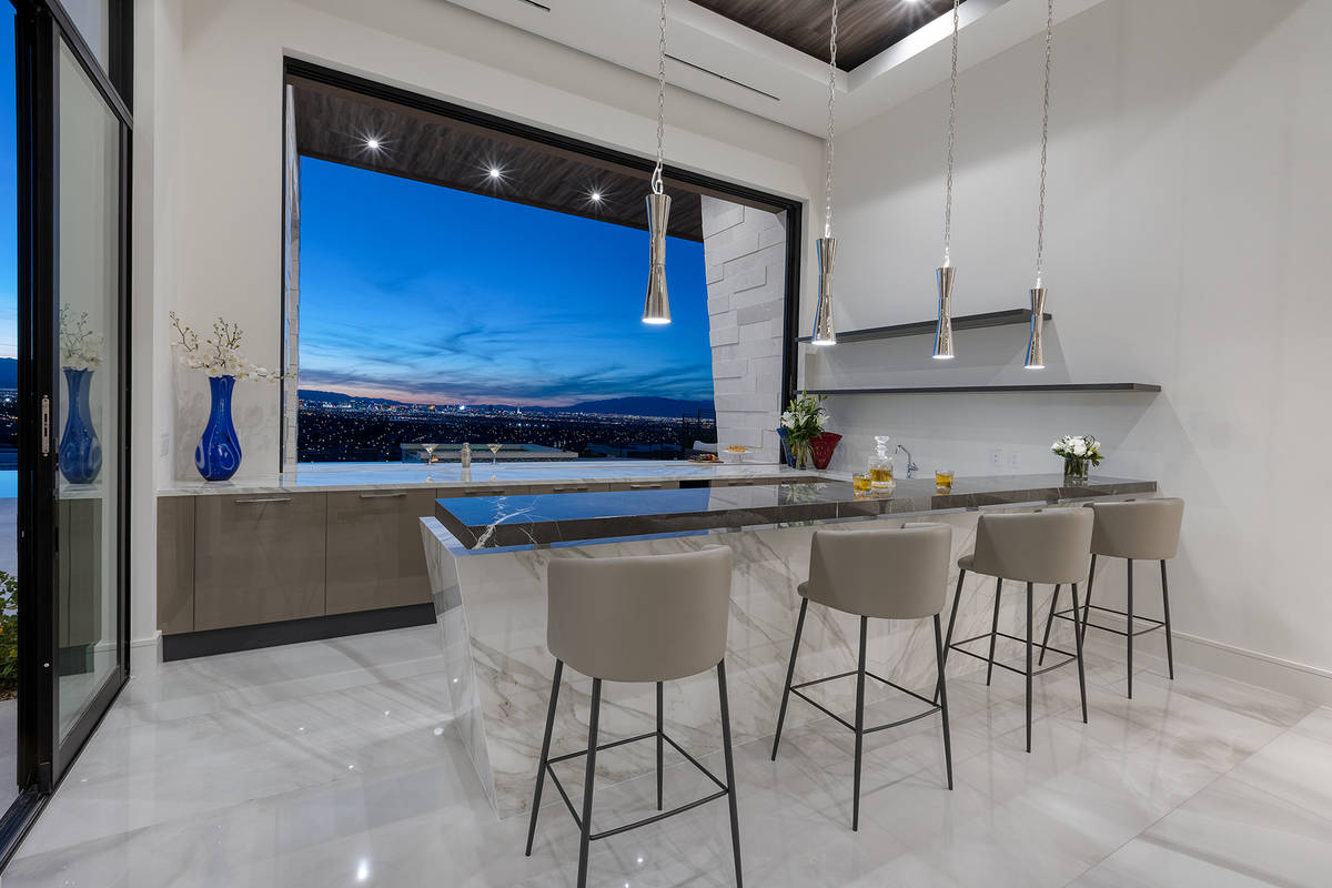 Most rooms in the 10,030-square-foot Ascaya home provide stunning Strip views. (Kristen Routh-S ...