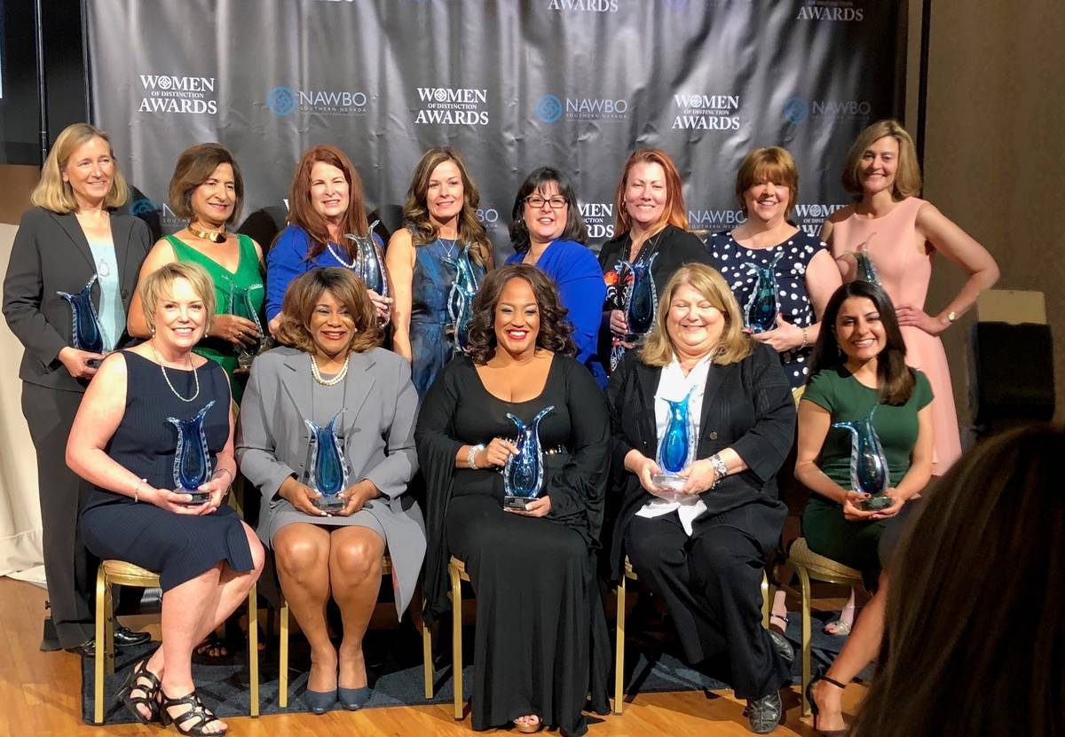 The National Association of Women Business Owners Southern Nevada chapter honors award winners ...