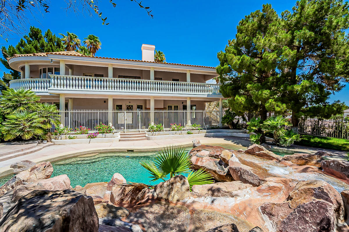 The two-story home has a resort-style backyard. (BHHS)