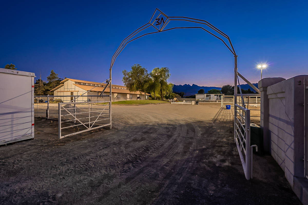The property has two barns and an Olympic-sized dressage arena. (BHHS)