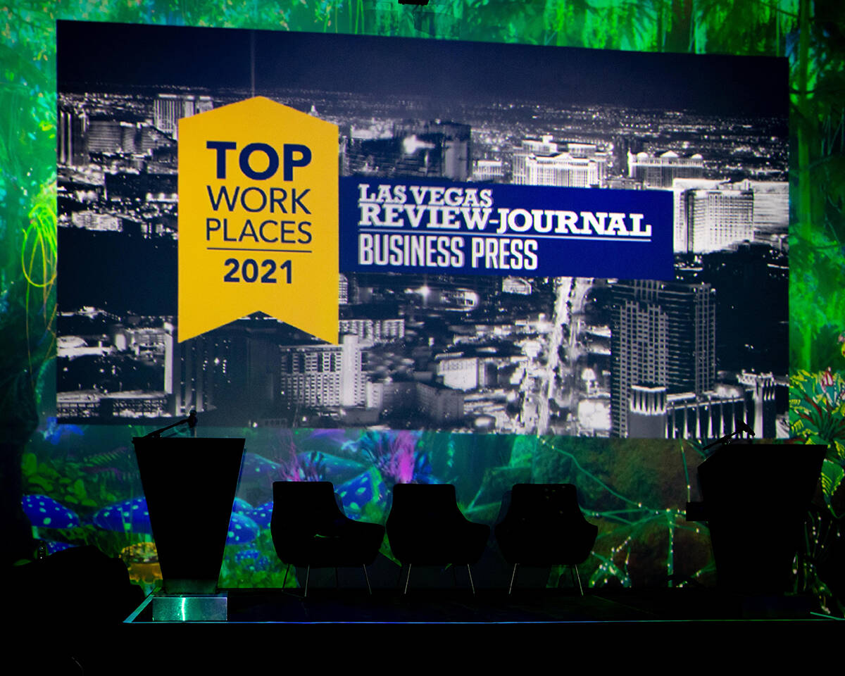 The awards ceremony for the 2021 Top Workplaces Nevada was held Wednesday afternoon at the Area ...