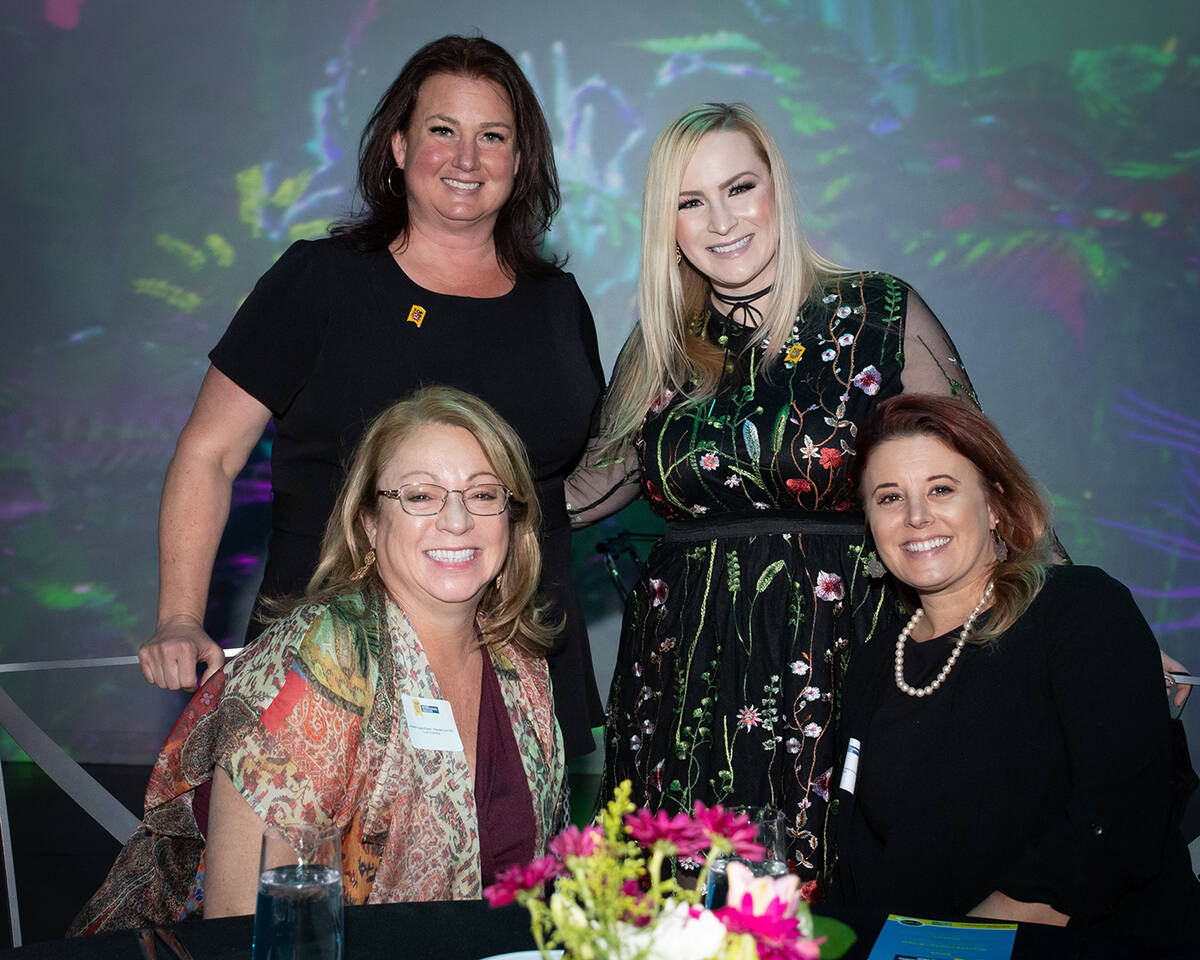 From left, clockwise, Sarah Thornton, Connected Communications; Jenae Page, Naqvi Injury Law; A ...