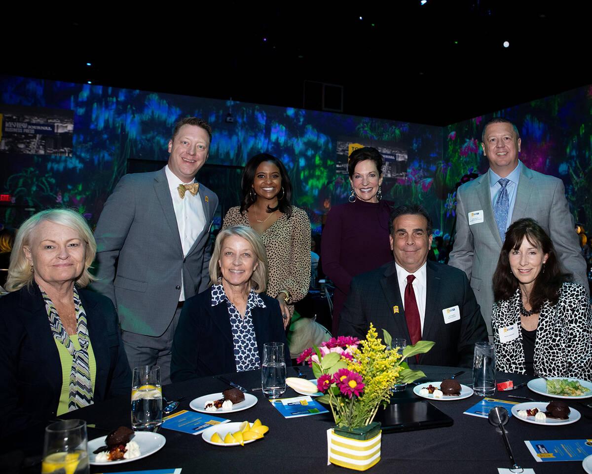 Speakers table. (Tonya Harvey/Las Vegas Business Press)