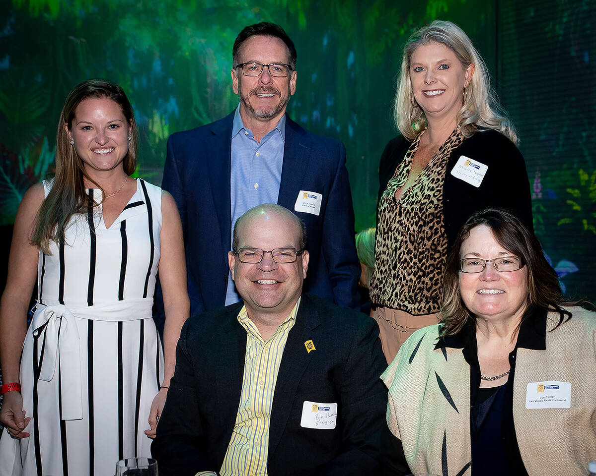 From left, clockwise, Holly Subers, Energage; Mitch Truswell, Red 7 Communications; Michelle Dr ...