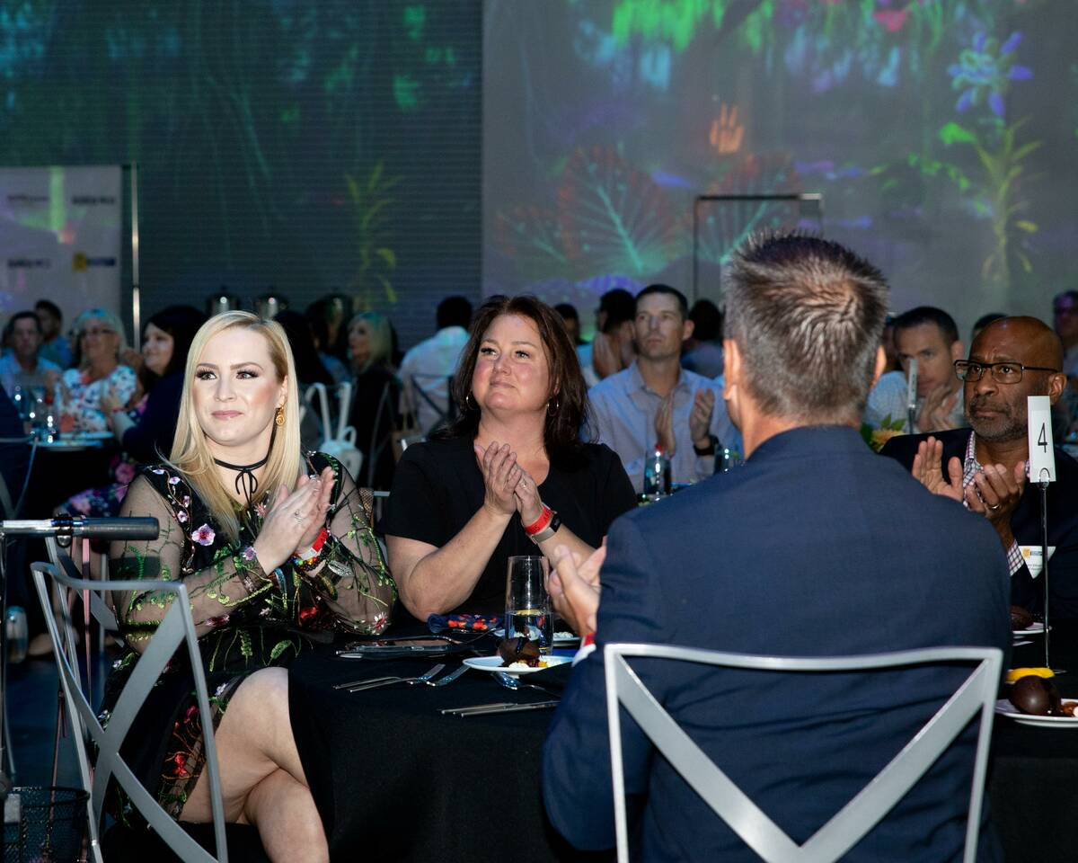 The awards ceremony for the 2021 Top Workplaces Nevada was Sept. 29. (Tonya Harvey/Las Vegas Bu ...