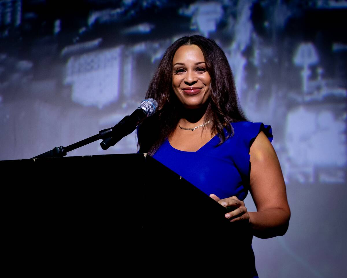 The Las Vegas Review-Journal's 7@7 Digital Anchor Renee Summerour was the emcee for the event ...