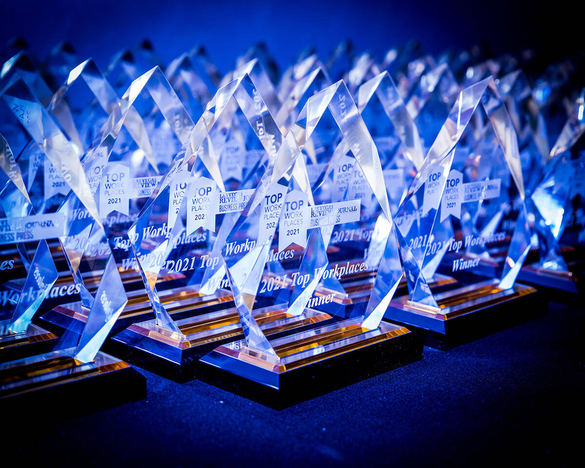 Special awards were given to business leaders at the Top Workplaces Nevada 2021 event. (Tonya H ...