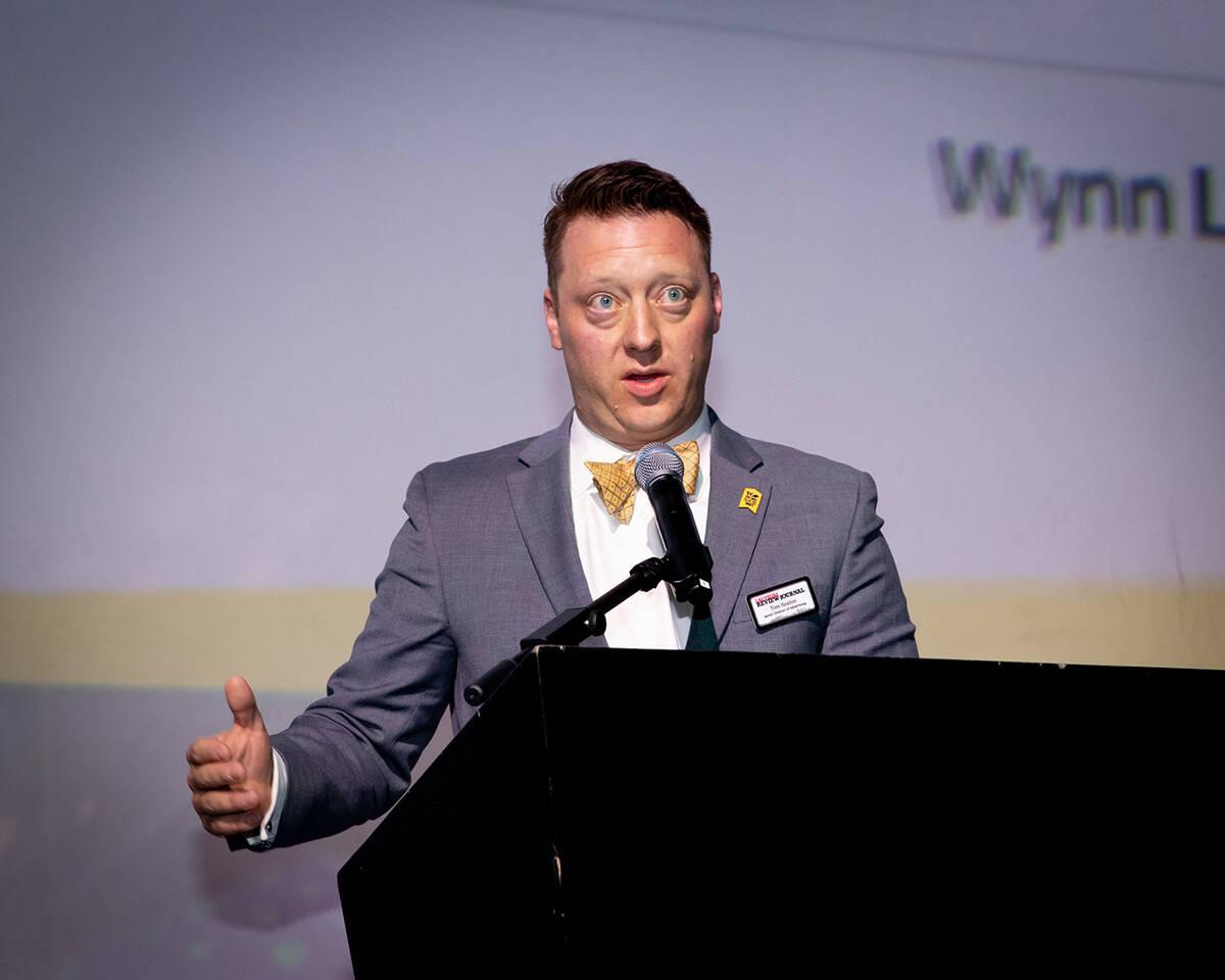 Tom Heaton, Las Vegas Review-Journal senior advertising director, announced the the rankings fo ...