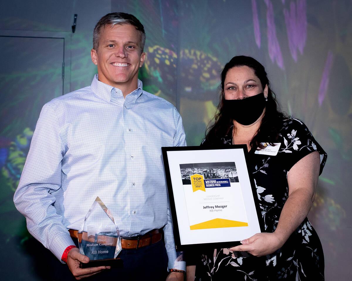 KB Home won No. 1 midsize company. (Tonya Harvey/Las Vegas Business Press)