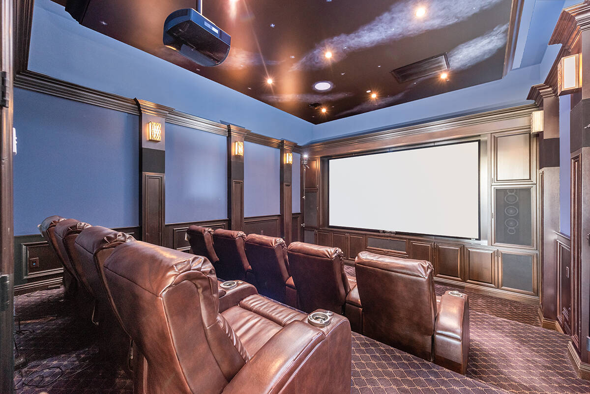 BHHS The nine-seat home movie theater is on the first level near the entertainment room with a ...