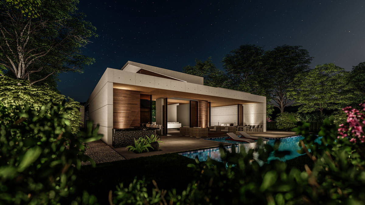 This artist's rendering shows what the new luxury homes Livv is building in the Las Vegas Valle ...