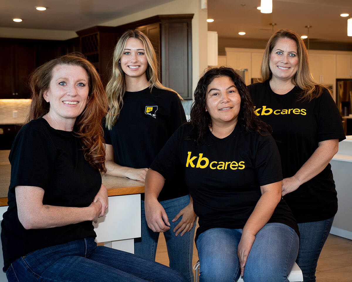 KB Home was named Nevada's top midsize workplace for 2021 in the Top Workplaces Nevada compet ...