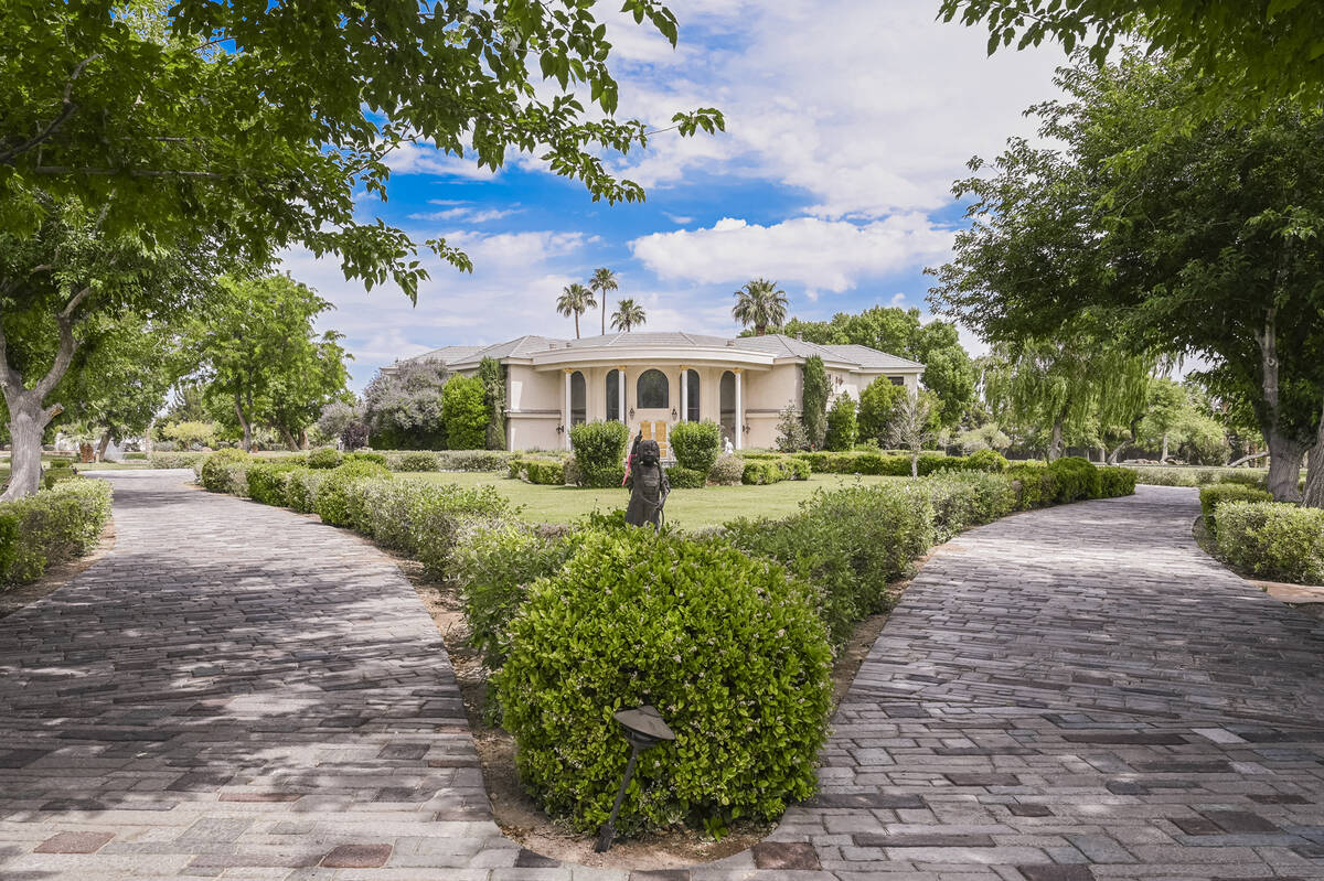 The No. 2 most expensive mansion listing in Las Vegas that is public is the former Wayne Newton ...